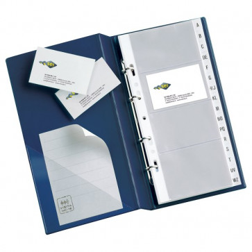 Portabiglietti da visita Visita MC30 Sei Rota 3 anelli, 320 biglietti blu 16,5x28cm 57093107