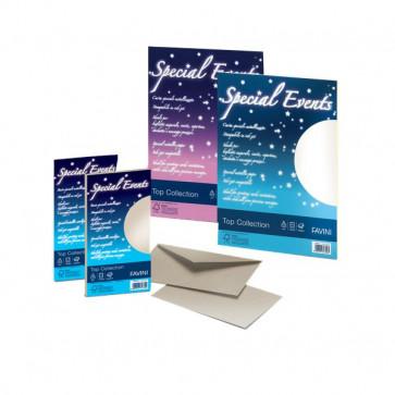 Carta e buste metallizzate Special Events Favini sabbia fogli A4 120 g/mq A69N154 (conf.20)