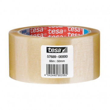 Nastro da imballo acrilico trasparente Tesa 50 mm x 66 m trasparente 57689-00000-00 (conf.6)