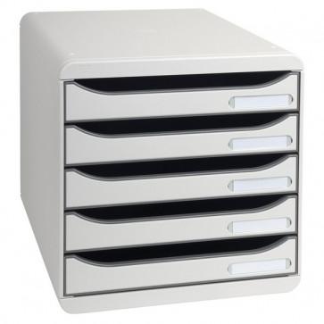 Cassettiera Big Box Plus Exacompta grigio chiaro 5 cassetti 309740D