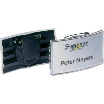 Portabadge con clip e spilla Durable 4x7,5 cm 8128-58 (conf.25)