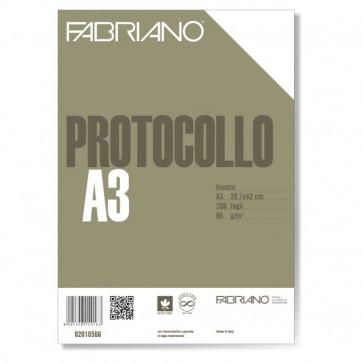 Fogli protocollo Fabriano standard bianco 66 g/mq 02010566 (conf.200)