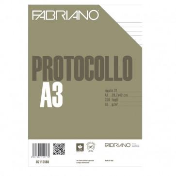 Fogli protocollo Fabriano standard rigato a 31 66 g/mq 02110566 (conf.200)