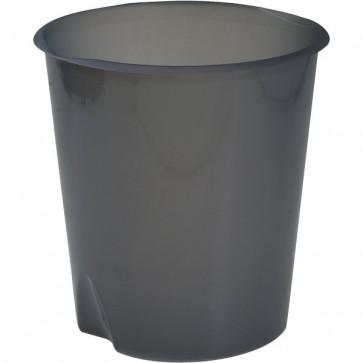 Cestino gettacarte Modula Leonardi trasparente grigio fumè E020TGF