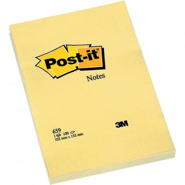 Post-it® Large Note 102x152 mm giallo canary neutra 659