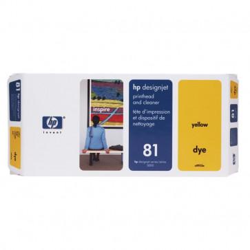 Originale HP C4953A Testina di stampa dye + dispositivo di pulizia 81 giallo