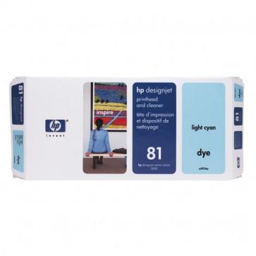 Originale HP C4954A Testina di stampa dye + dispositivo di pulizia 81 ciano chiaro
