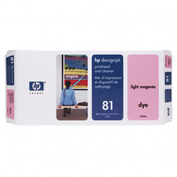 Originale HP C4955A Testina di stampa dye + dispositivo di pulizia 81 magenta chiaro