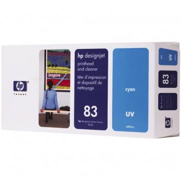 Originale HP C4961A Testina di stampa UV + dispositivo di pulizia 83 ciano