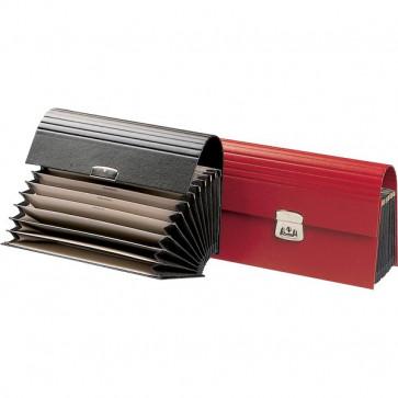 Cartella portacambiali Fraschini rosso 12 tasche 605-E