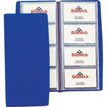 Portabiglietti da visita in PVC Favorit 4 tasche 80 scomparti 11x25,5 cm blu 08308014