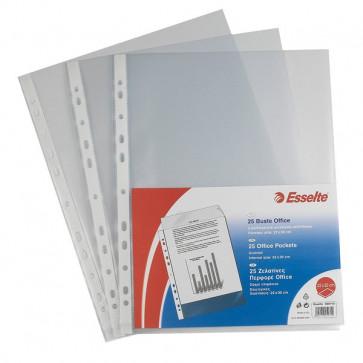 Buste a foratura universale Copy Safe Esselte Deluxe 22x30 cm goffrata 392597600 (conf.25)