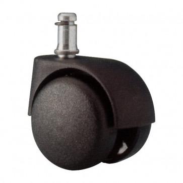 Ruote per sedie Unisit Per pavimenti duri diametro 11 mm e lunghezza 23 mm -nero ACCRUC5 (conf.5)