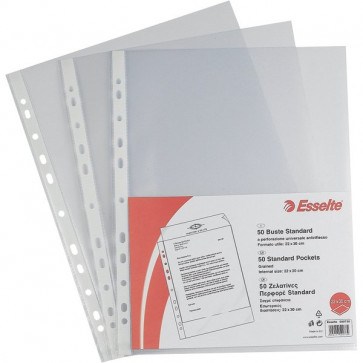 Buste a foratura universale Copy Safe Esselte Standard 22x30 cm goffrata 395097300 (conf.50)