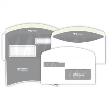 Buste con 2 finestre Pigna Envelopes FLY-Matic 2 80 g/m² 115x230 mm bianco conf. 1000 - 0224302