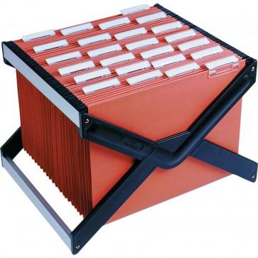 Archivio portatile LuXor Bertesi Completo di 10 cartelle Avana, interasse 39 cm LUXOR4AV10P1