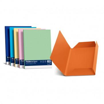Cartelline in cartoncino 3 lembi Luce&Acqua Favini azzurro A50G434 (conf.25)