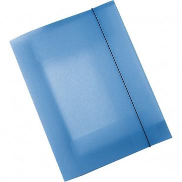 Cartelle 3 lembi in ppl Leonardi blu trasparente U110TB (conf.10)