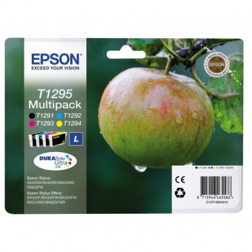 Originale Epson C13T12954010 Conf. 4 cartucce inkjet ink pigmentato blister RS Mela-L T1295 n+c+m+g