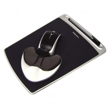 Mousepad Easy Glide con Microban Fellowes nero 93730
