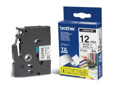 Nastri TZe Brother 12 mm nero/bianco TZe-231