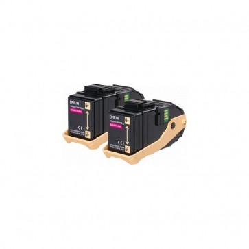 Originale Epson C13S050607 Conf. 2 Toner ACUBRITE 0603 magenta