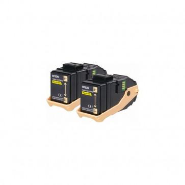 Originale Epson C13S050606 Conf. 2 Toner ACUBRITE 0602 giallo