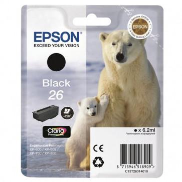 Originale Epson C13T26014010 Cartuccia ink pigmentato RS Claria Premium 26/ORSO POLARE nero