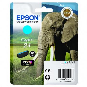 Originale Epson C13T24224010 Cartuccia RS Claria Photo HD 24/ELEFANTE ciano