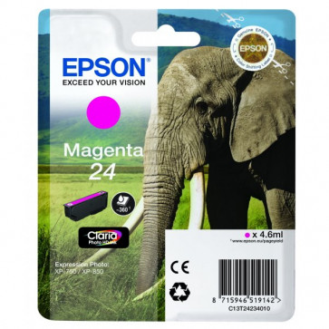 Originale Epson C13T24234010 Cartuccia RS Claria Photo HD 24/ELEFANTE magenta