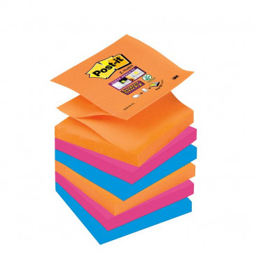 Ricariche Post-it® Z-Notes Super Sticky Post-It 76x76 mm assortiti R330-6SS-EG (conf.6)