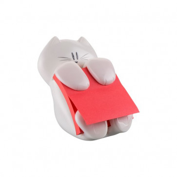 Dispenser Gatto Emotional Post-it® Z-Notes 76x76 mm bianco rosso rubino CAT-330