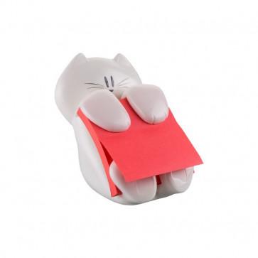 Dispenser Gatto Emotional Post-it® Z-Notes 76x76 mm bianco rosso rubino CAT-330