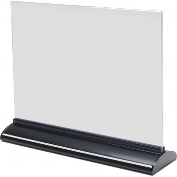 Porta-avvisi bifronte in acrilico Deflecto A4 orizzontale 30,5x7,5x24,4 cm 58445