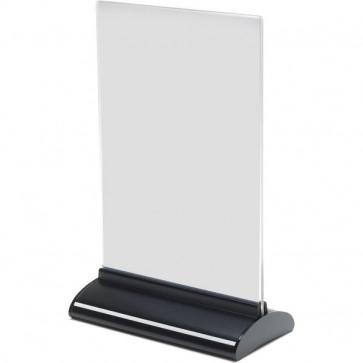 Porta-avvisi bifronte in acrilico Deflecto A5 verticale 15,7x7,6x24,3 cm 58540