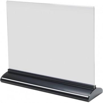 Porta-avvisi bifronte in acrilico Deflecto A5 orizzontale 21,9x7,6x18,2 cm 58545