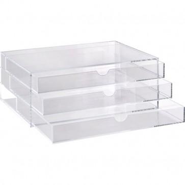 Cassettiera in acrilico a 3 cassetti Tecnostyl trasparente ACRD040