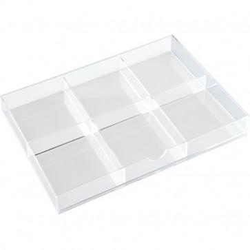 Divisoriper cassettiera in acrilico a 3 cassetti Tecnostyl - trasparente 15 K15ACRD040