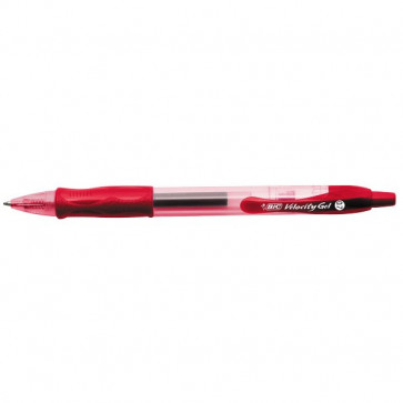 Penna a sfera a scatto Velocity Gel Bic rosso 829159
