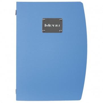 Portamenù Rio Securit azzurro A4 MC-RCA4-BU