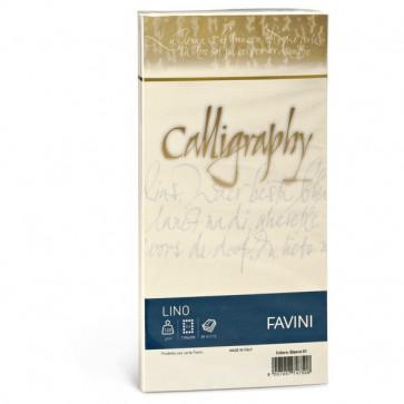 Calligraphy effetto lino Favini lino avorio buste 11x22 cm 120 g A57Q514 (conf.25)