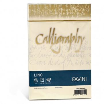 Calligraphy effetto lino Favini lino avorio buste 12x18 cm 120 g A57Q617 (conf.25)