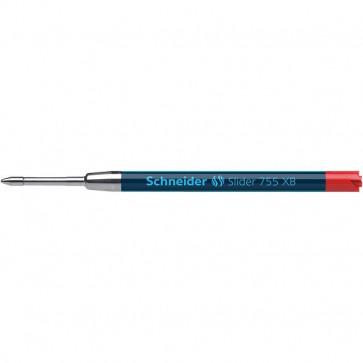 Refill per Penna a sfera a scatto Slider Rave Schneider rosso P175502