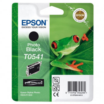 Originale Epson C13T05414020 Cartuccia Hi-Gloss blister RS+RF ULTRACHROME T0541 nero foto