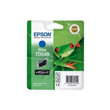 Originale Epson C13T05494020 Cartuccia Hi-Gloss blister RS+RF STYLUS PHOTO T0549 blu