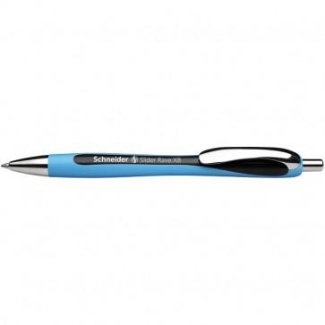 Penna a sfera a scatto Slider Rave Schneider nero P932501 (conf.5)