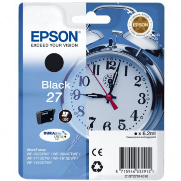 Originale Epson C13T27014010 Cartuccia inkjet blister RS Sveglia 27 ml. 6,2 nero