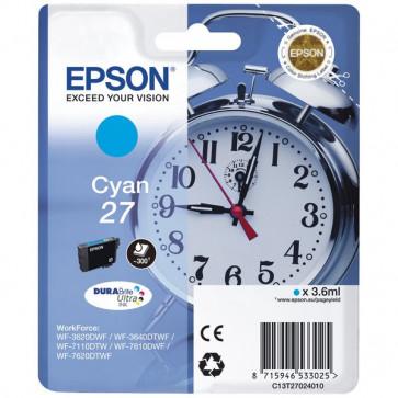 Originale Epson C13T27024010 Cartuccia inkjet blister RS Sveglia 27 ml. 3,6 ciano