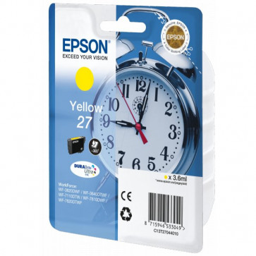 Originale Epson C13T27044010 Cartuccia inkjet blister RS Sveglia 27 ml. 3,6 giallo