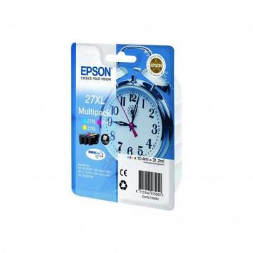 Originale Epson C13T27154010 Conf. 3 cartucce inkjet 27XL ml. 31,2 ciano+magenta+giallo